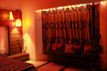 Master Bedroom in Red Light