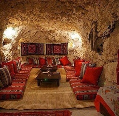 An Afghan style living room, Image Source: pinterest.com