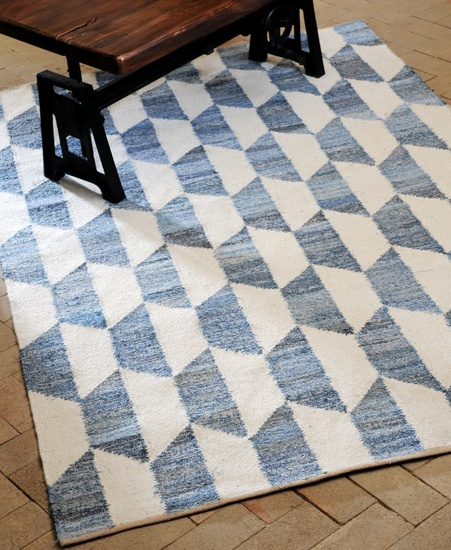 Cooper Hand-woven Wool and Denim Rugs