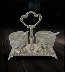 Two Bowls Kumkum Set with Spoon Buy Online