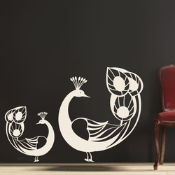 Two Peacocks Wall Decal ( KC108 )