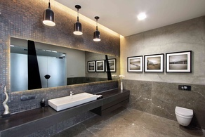 Modern Bathroom Lighting Idea by Interior Designer Dipen Gada