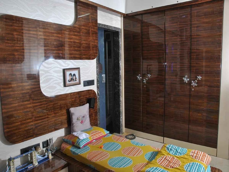 marble wardrobe with wooden effect