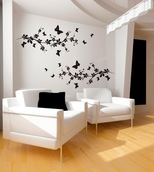 Butterflies And Branches Wall Decal ( KC164 )