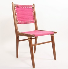 Woven teakwood chair