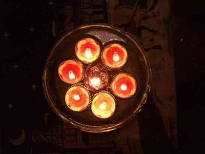 Beautiful colourful diyas add colour and light to the diwali celebrations