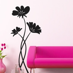 Perky Poppies Wall Decal ( KC025 )