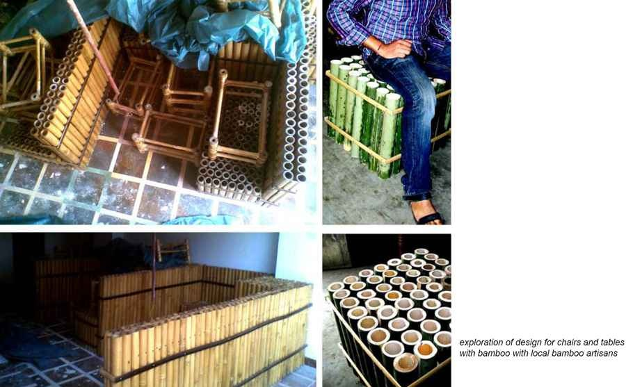 Furniture made using Bamboo