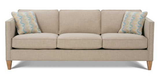 Three seater fabric sofa