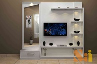 Media Unit with Dressing Table
