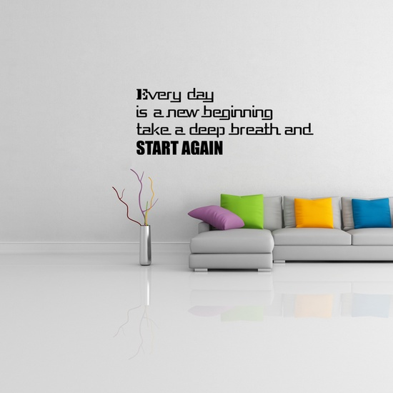 Start Again Wall Decal ( KC374 )