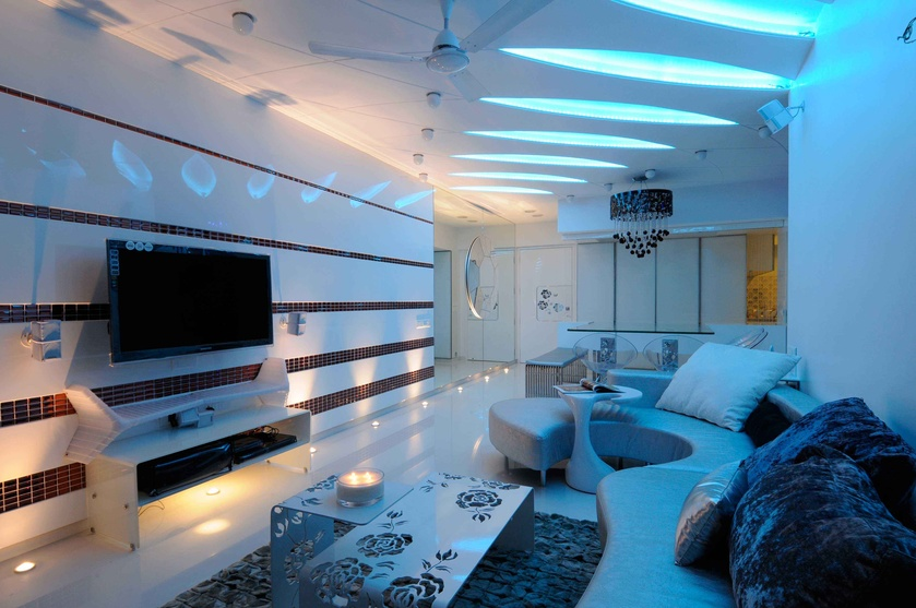 Luxurious Living Room with multiple ceiling niches