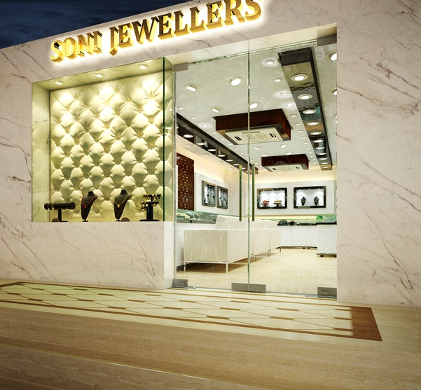 Home Interior Design Ideas Hyderabad:  Interiors Of A Jewellery Showroom By Arnav Khanna