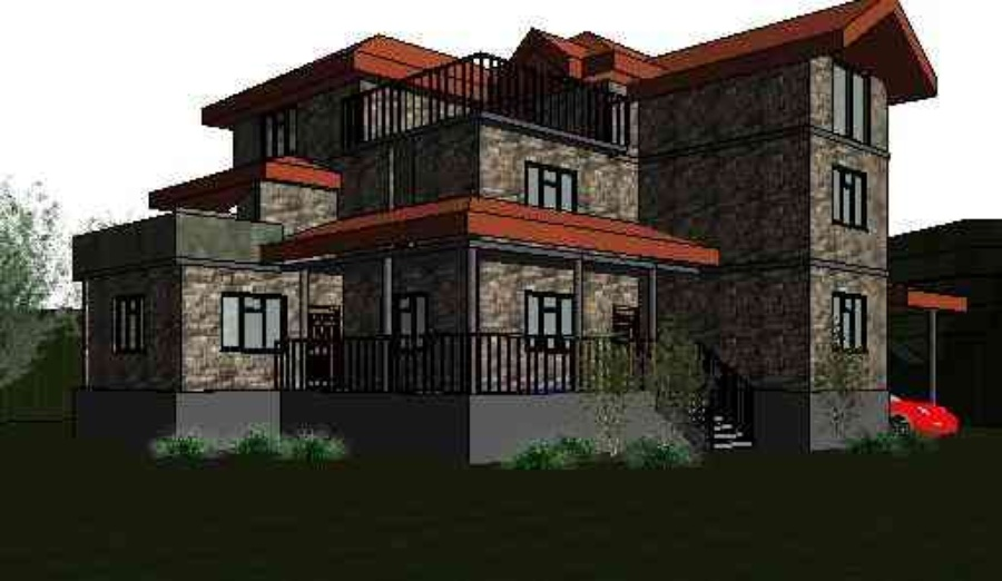 Roof designing by geeteshwar sharma interior designer in kulluhimachal pradesh india