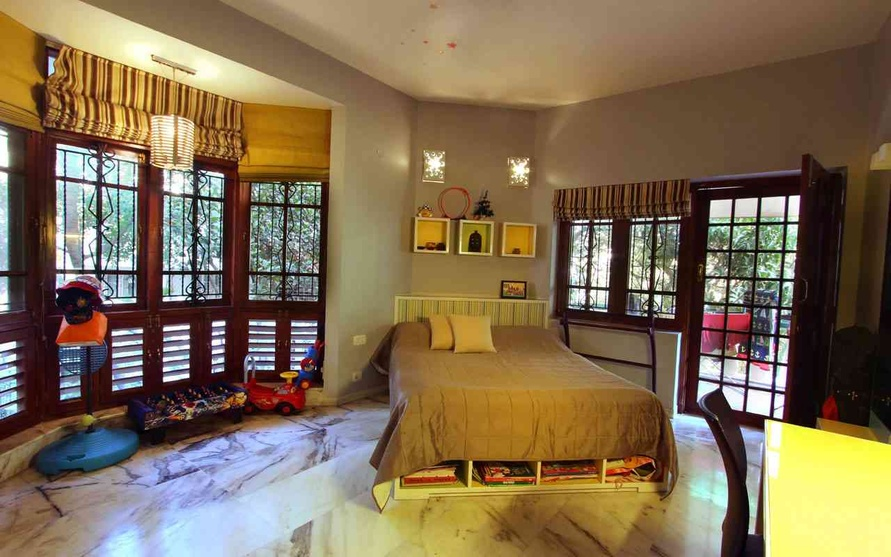 3bhk in domlur bangalore by bhakti shetty interior for Wall bed bangalore