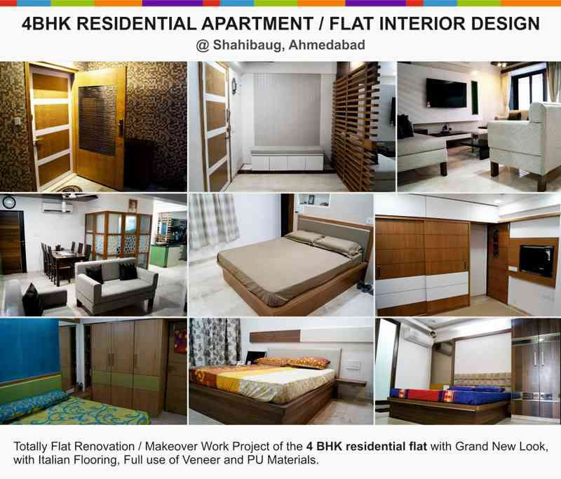 4bhk Residential Apartment Interior Design Projects