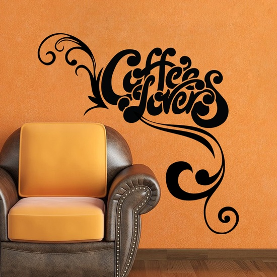 Coffee Lovers Wall Decal ( KC185 )