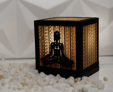 Sustainable Handmade Sylvn Studio Meditation Table Lamp