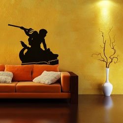 Poseidon Sea God Wall Decal ( KC223 )