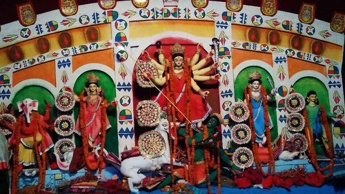 Puja pandal decoration