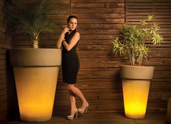 Illuminated Planter Elena 120