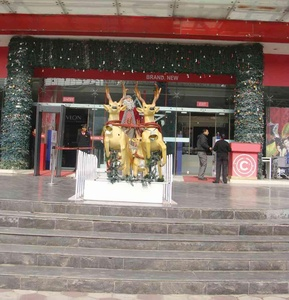 Golden Reindeers for Christmas in Central-Mall-Gurgaon