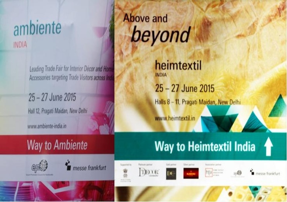 Ambiente India and Heimtextil India 2015