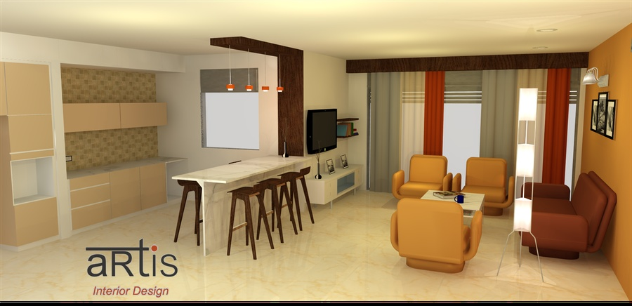 Living Room Interiors In 3d By Artis Interior Interior Designer In Pune Maharashtra India
