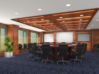 The Board Room with Wooden Ceiling Enhancement