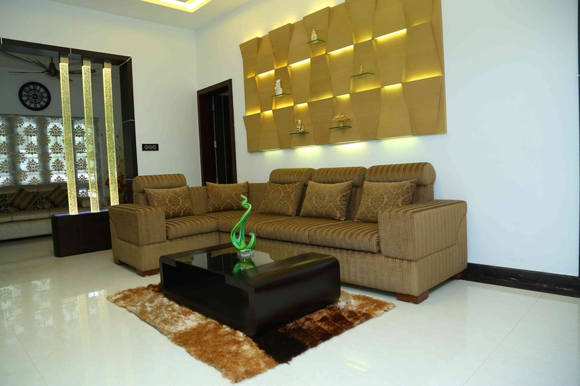 Sofa work and PU coating on Wall Panneling