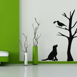 The Dog and the Crow Wall Decal ( KC318 )
