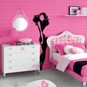 Petite Girl Wall Decal ( KC091 )