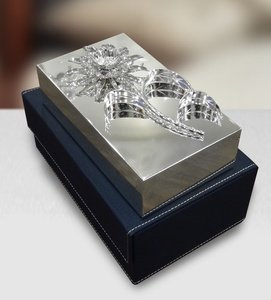 Jewelry Box with Crystal Sunflower