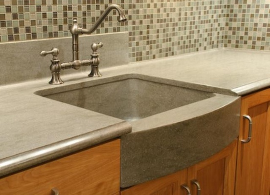Solid surface sink design