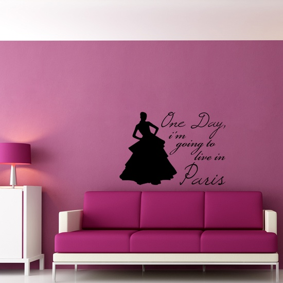 Live in Paris Wall Decal ( KC248 )