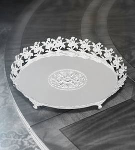 Tray with Flowers Round Big