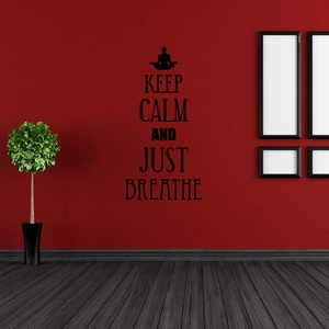 Keep Calm and Just Breathe Wall Decal ( KC366 )