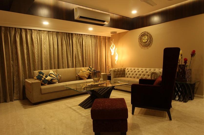 Residence at chandivili mumbai by vinod mehra architect - The living room mumbai maharashtra ...