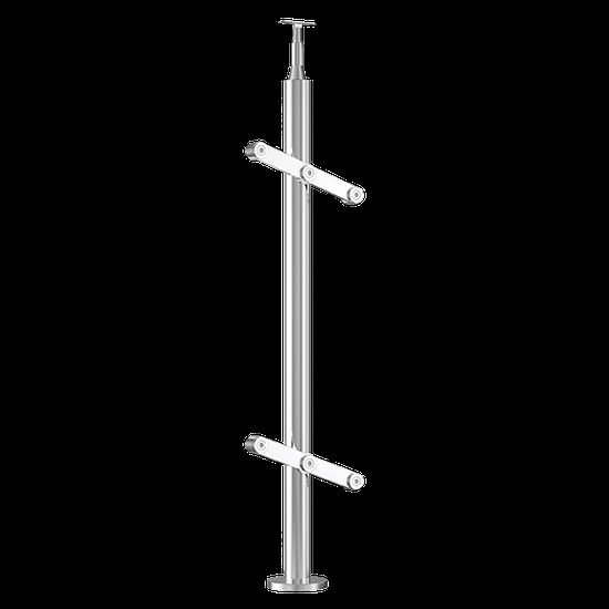 BALUSTER ROUND STAINLESS STEEL FOR GLASS PARTITION SYSTEM-2
