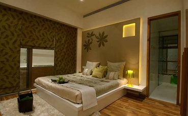 Brown and Gold Bedroom Design