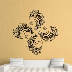 Artistic Waves Wall Decal ( KC107 )