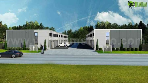 Commercial Architectural Rendering Companies Front view - Netherlands