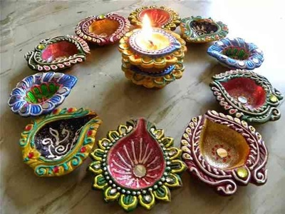 Diyas for dusshera decoration.
