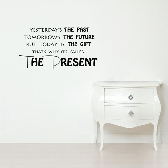 The Present Wall Decal ( KC384 )