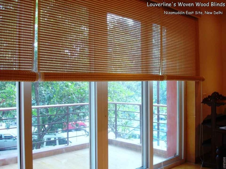 Woven Wood Blinds with interiors