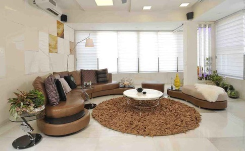 Modern, Brown and White Living Interiors