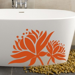 Blooming Lotus Wall Decal ( KC252 )