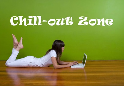 Chill Out Zone Wall Decal ( KC056 )
