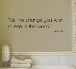 Be The Change Wall Decal ( KC061 )