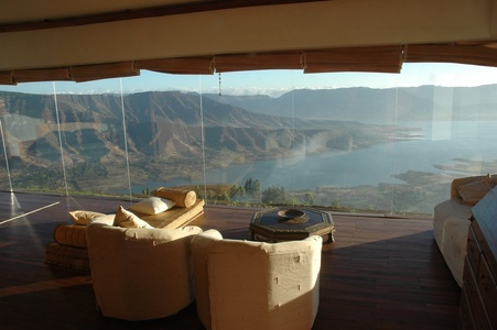 Living Room with Panoramic View.